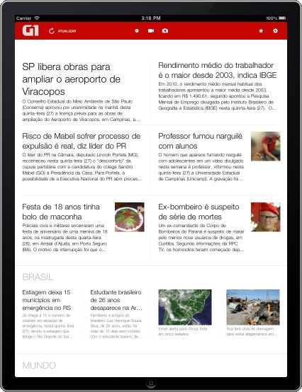 G1 iPad - Home