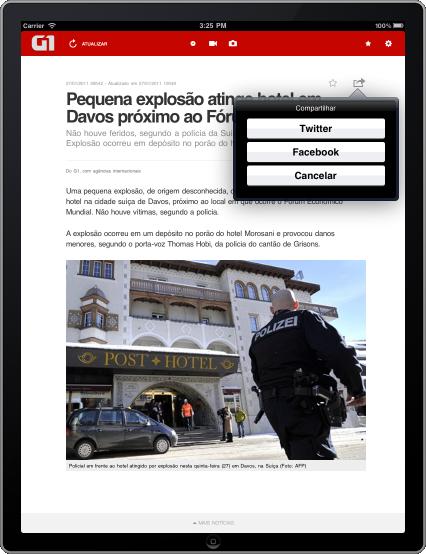 G1 iPad - Matéria