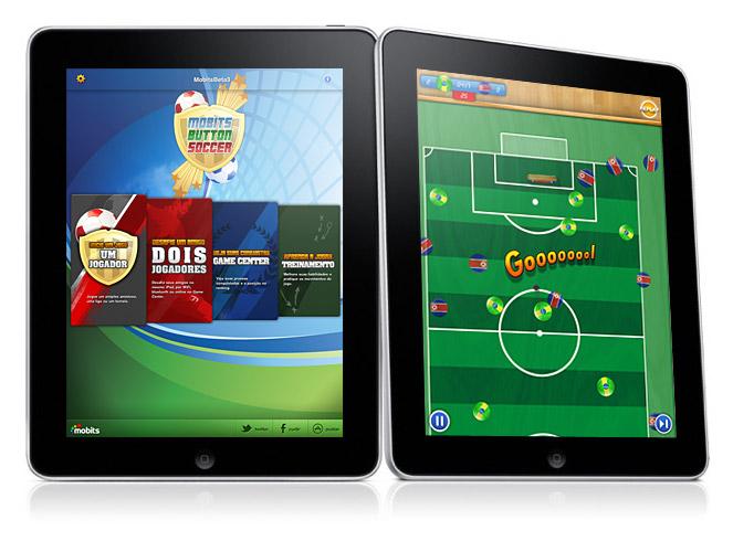 Futebol de botão no iPad