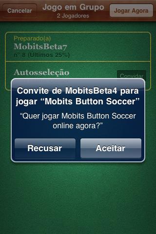 Convite jogo online