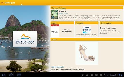 aplicativo Botafogo Praia Shopping tablet Android